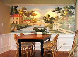 hand painted mural installer